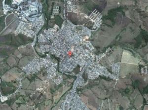 Cidade vista de satélite - Google Earth